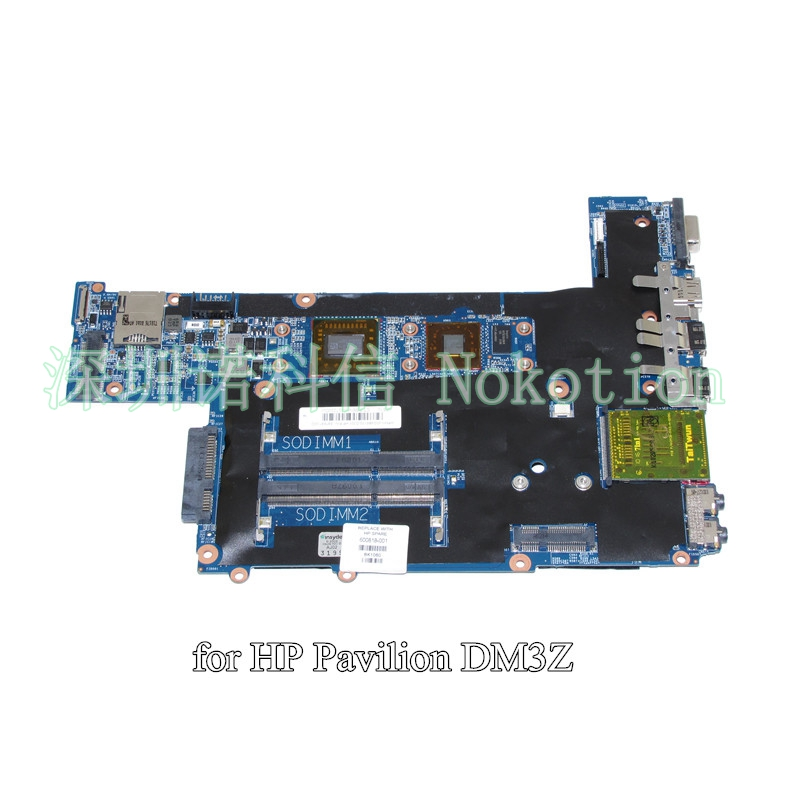 NOKOTION 600818-001 for HP Pavilion DM3 laptop motherboard AMK125 CPU DDR3 574680 001 1gb system board fit hp pavilion dv7 3089nr dv7 3000 series notebook pc motherboard 100% working
