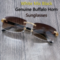 Retro Carter Buffalo Horn Glasses Carter Sunglasses Luxury and Retro Sunglasses Men with Buffalo Horn Glasses for Men Fishing