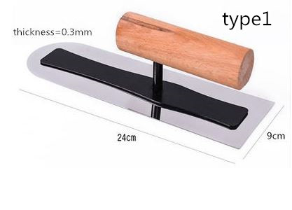 6 Size Stainless Steel Blade With Wooden Handle Plaster Trowel Construction Concrete Spatula Tool L=12/18/20/24cm