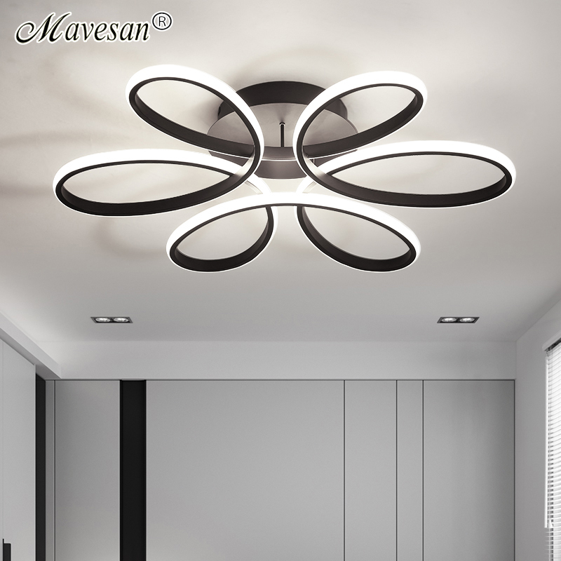Living room ceiling lamp led dimmable for bedroom aluminum body indoor lighting fixture plafonnier led lights