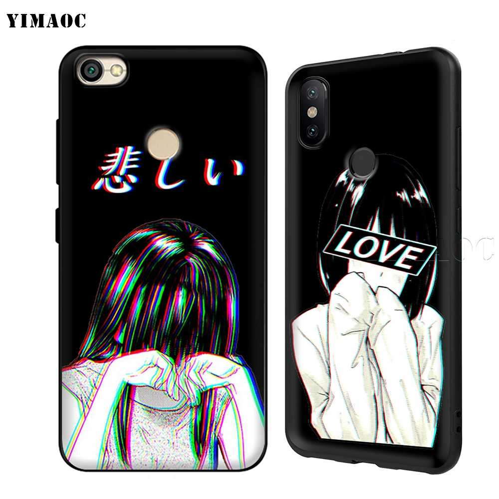 YIMAOC LEWD Sad японского аниме эстетический чехол для Xiaomi Redmi Note MAX 3 6 6A 7 6 8 9 se a1 a2 Pro Lite pocophone f1