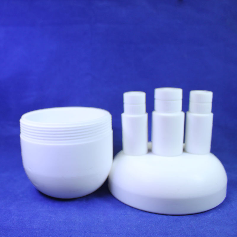 Lab PTFE Flask / Laboratory Teflon Flasks with Three and  Four Openings! 250 ~ 2000ml Free to Choose! 10ml ptfe teflon crucible breakers with cover