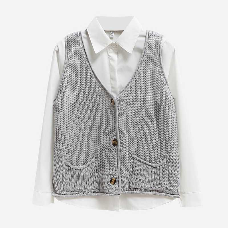 Detail Feedback Questions about B3279 2018 spring and autumn new women s  fashion knitted loose sleeveless students cardigan sweater vest cheap  wholesale on ... 2d8cf1361