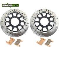 BIKINGBOY Front Brake Discs Rotors Disks Pads For Honda RVT 1000 R VTR 1000 SP 1 00 01 SP 2 02 03 04 05 06 RC51 320mm Set