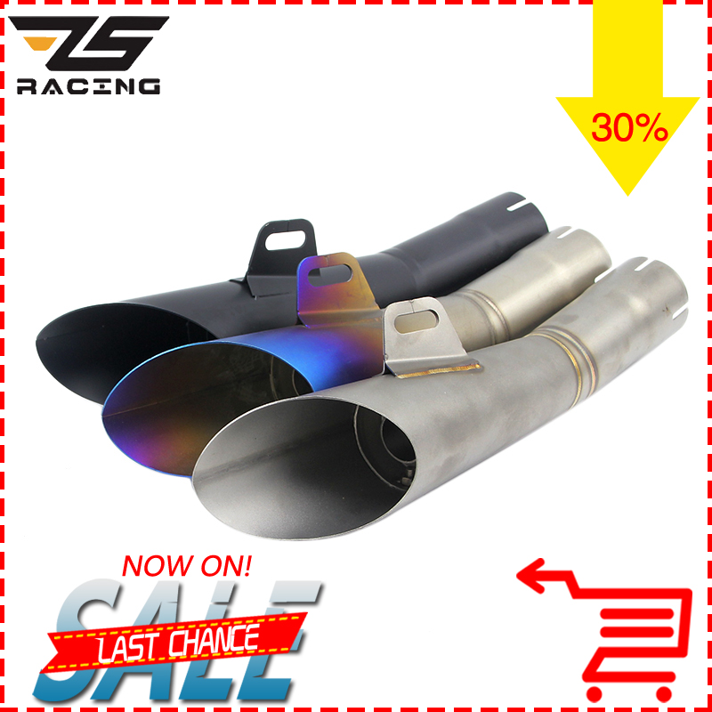 ZS-Racing Motorcycle Exhaust Pipe Case for Yamaha YZF-R6 YZF R6 Motorcycle Muffler Escape Moto For YZF R6 With Sticker