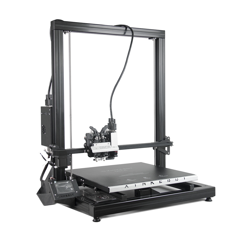 Xinkebot Orca 2 Cygnus Big Size 3D Printer 400x400x500mm High Precision Guide Rail Auto Bed Leveling xinkebot 3d printer orca2 cygnus dual extruder high resolution big impressora 3d with free filament