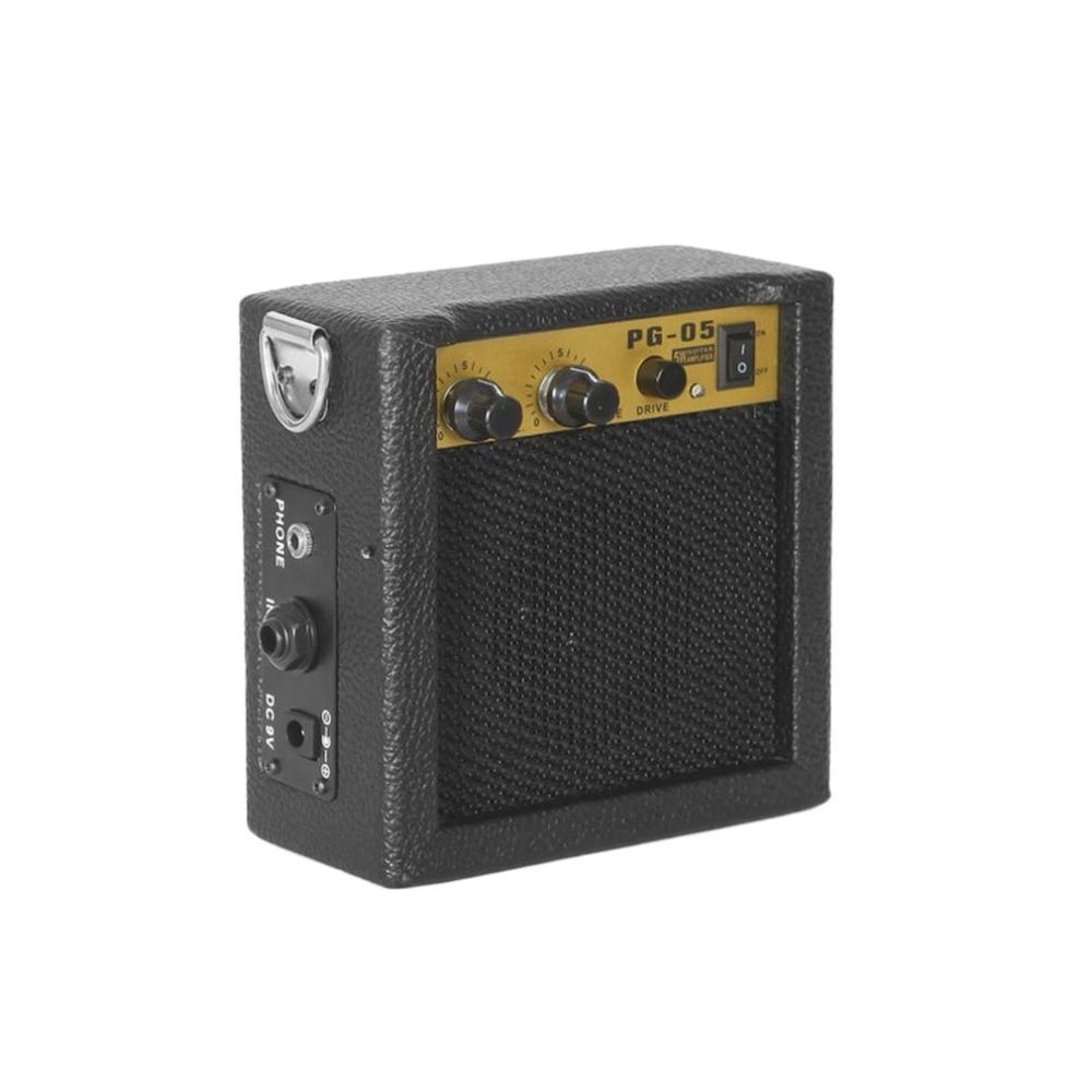 5W Mini Electric Guitar Amp Amplifier Distortion Guitar Speaker ...