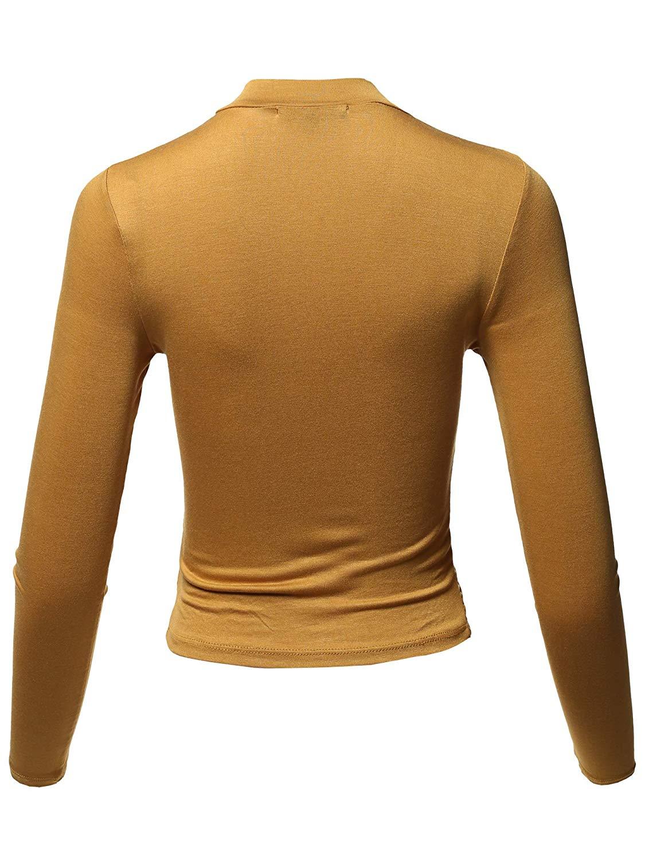2018 Женская однотонная Базовая укороченная футболка с длинным рукавом и круглым вырезом в рубчик, укороченная футболка с длинным рукавом, 12