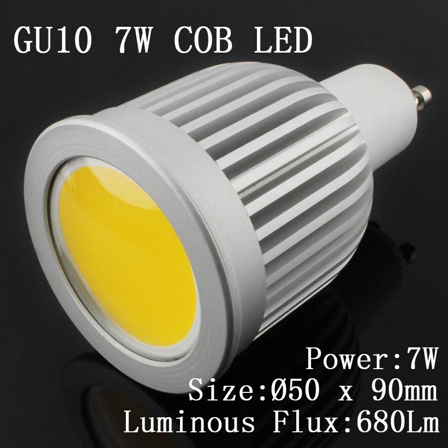 30 pcs/lot 85 265V GU10 E27 MR16 GU5.3 E14 7w 9W COB LED Spot ampoules lampe blanc chaud/blanc froid haute luminosité 4300k