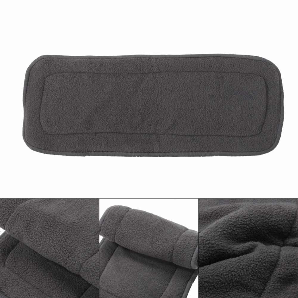 1Pc Reusable 4 Layers Bamboo Charcoal Insert Baby Cloth Diaper Nappy Use Washable Infant Nappy Changing Pad Liners Nappy Mat