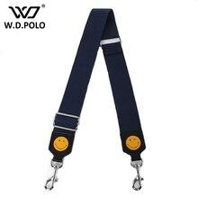 WDPOLO smiley und auge design dame stoff taschen gurt chic frau loved mode umhängetaschen gürtel passen strap für taschen AA093