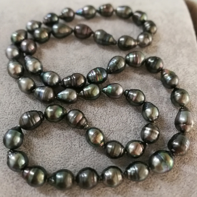 362b2679e MYDEAR Pearl Jewelry Funky 11-14mm Screw-thread Tahitian Black Pearl  Necklace,Vintage Chokers Necklaces For Women,High Luster