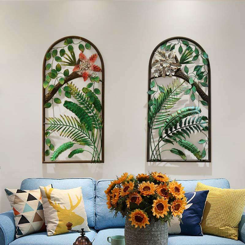 Salon pendentif canapé décoration murale suspendu créatif en fer forgé bois