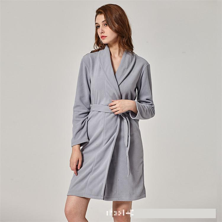 CEARPION Autumn Winter Women Kimono Bathrobe Gown Solid Color Warm Flannel  Robe Lady Sexy Sleepwear Intimate Lingerie Negligee-in Robes from Underwear  ... 45ba89f86