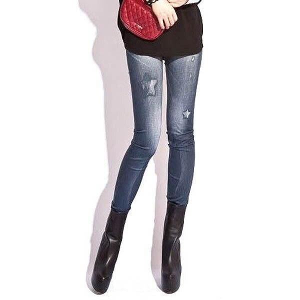 Stretching Denim Style Leggings