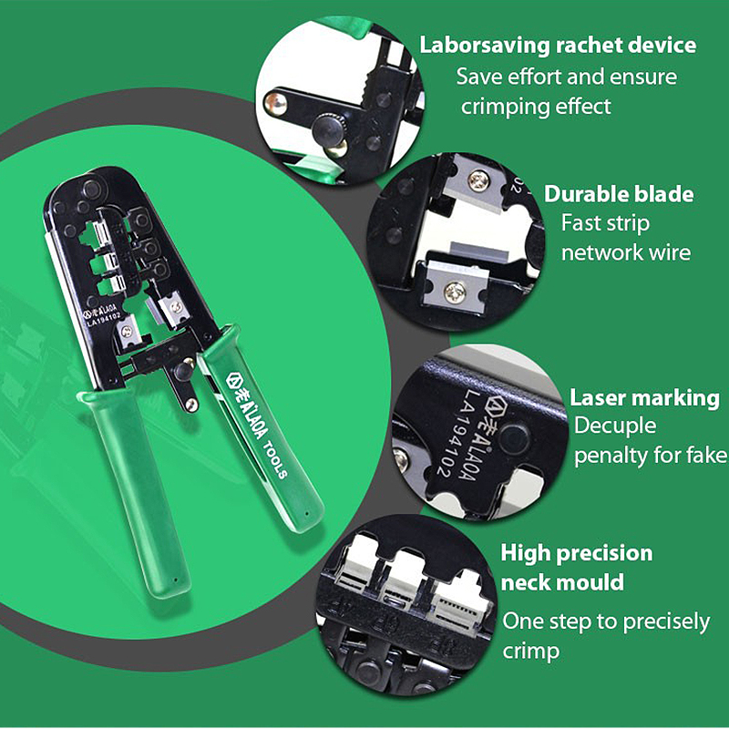 Tool Cable LAN Network PC rachet clamp 8P 4 Tester Kit LAOA Utp crimping Crimper 6 Portable Plug Plier pliers HandTool