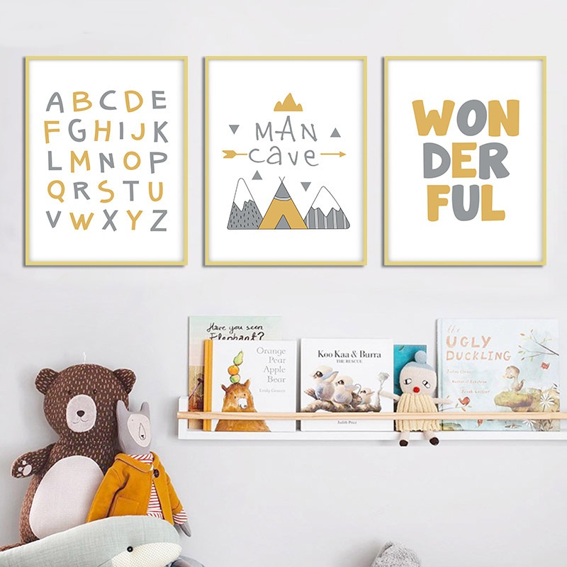 Cute A Z Alphabet Letters Cartoon