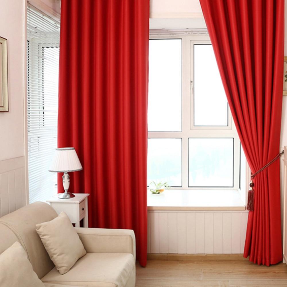 Einfarbig Verdunkelungsvorhänge Schattenisolierung 100 * 215 cm - Haustextilien - Foto 2