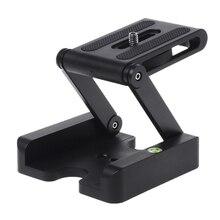 Z Flex Tilt Tripod kafa alüminyum alaşımlı katlanır Z Tilt kafa tutuşunu plaka standı montaj su terazisi telefonlar için kamera