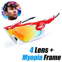 Mountain Velo Goggles Polarized Sunglasses Men Women MTB   Cycling     Eyewear   Sun Glasses with Myopia Frame
