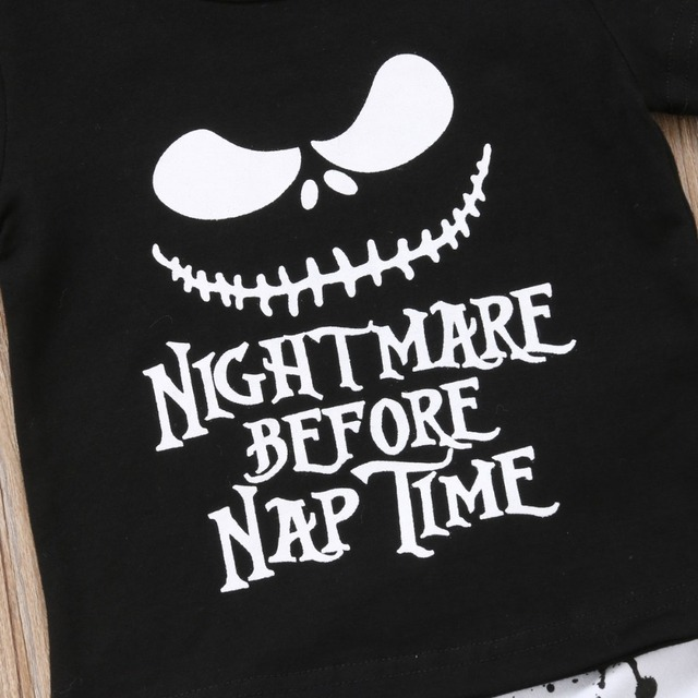 SET NIGHTMARE BEFORE NAP BABY OUTFIT
