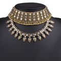 2017 Fashion Choker Necklaces Women Metal Multi Layer crystal Statement Bib Collar Necklace Jewelry Accessories christmas gifts