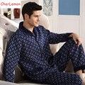 2016 de Otoño de Los Hombres Pijamas de Invierno de La Manga Completa Masculina Pijama Conjunto Dormir Gruesa De Algodón Combinado Cálido Pijama de Salón Más Tamaño Ropa de Dormir