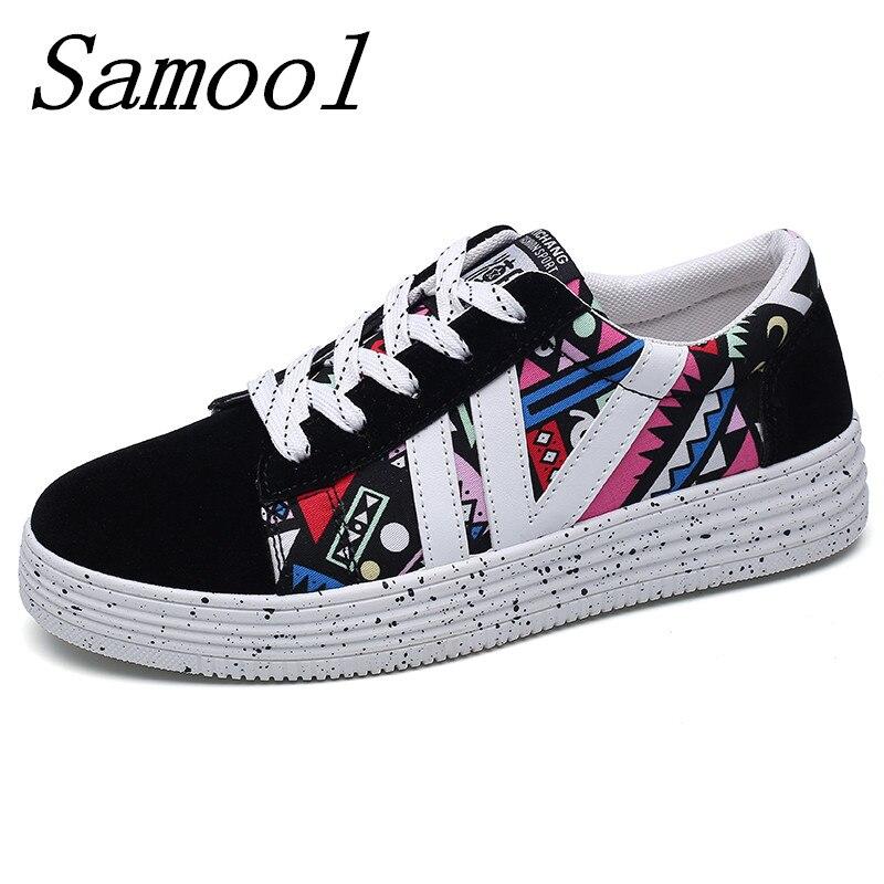 Brand New Canvas Graffiti Shoes for Women Comfortable Canvas Shoe Women Causal Shoes Flat Shoes Women Female Footwear jy3