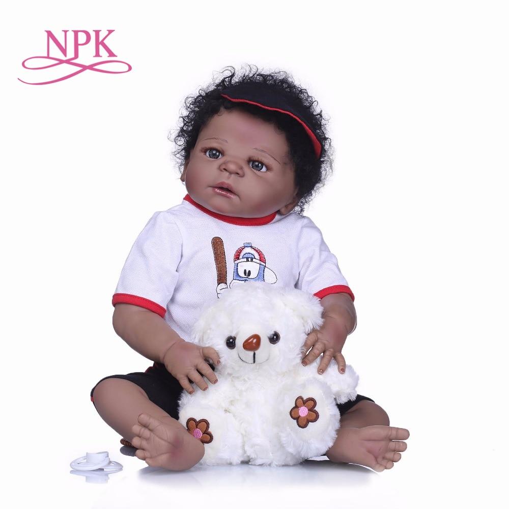 NPK 55cm Full Silicone Body Reborn boy Bebe Doll Toy Like Real 22inch Newborn Princess Babies
