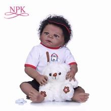 80371251f NPK 55 cm Corpo Cheio de Silicone Boneca Bebe Reborn menino Boneca de  Brinquedo Como Verdadeiro 22 polegada Princesa Recém-nasci.