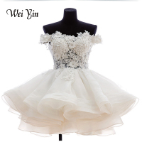 Real Samples New 2015 White Short Wedding Dresses The Brides Lace Wedding Dress Off The Shoulder