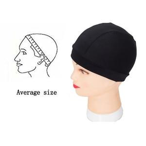 Image 3 - 12pcs/lot Dome Cap Elastic Stocking Hairnets Wigs Liner Caps Weave Cap Invisible Hair Net Nylon Stretch Wig Net Cap Black Color