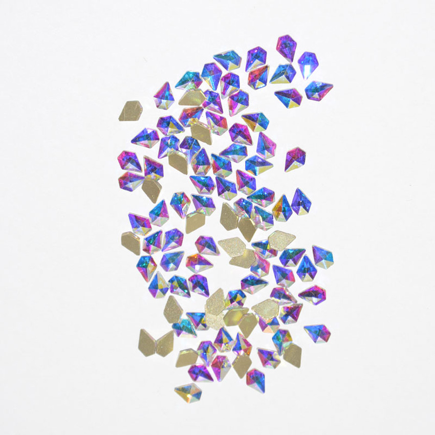 100pcs Strass 3D  Nail Art   Rhinestones  Decorations for Nails Accessoires Glitter Crystal Design Stones Different Shapes Gems 100pcs 15 styles manicure nail stickers adhesive rhinestones for nails supplies accessoires 3d nail art decorations charms gems