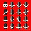 Hotnew 2 unids Chic DIY 18 estilo French Manicure Nail Art puntas cinta guía Sticker Stencil 2MNU 2SYH 7CX3