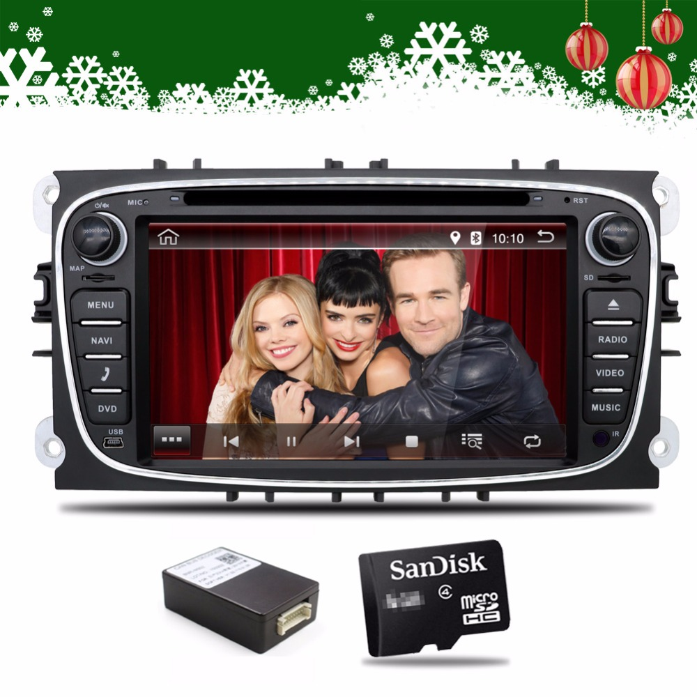 2 Din 7Inch Android 7.1 Car DVD Player For FORD/Mondeo/S-MAX/Connect/FOCUS 2 2008-2011 With 3G Wifi Radio GPS Bluetooth 2 din car dvd player pure 4 4 2 android gps radio for lexus rx300 rx330 rx350 7inch 1080p dual core 3g wifi 1g drr3 1 7ghz