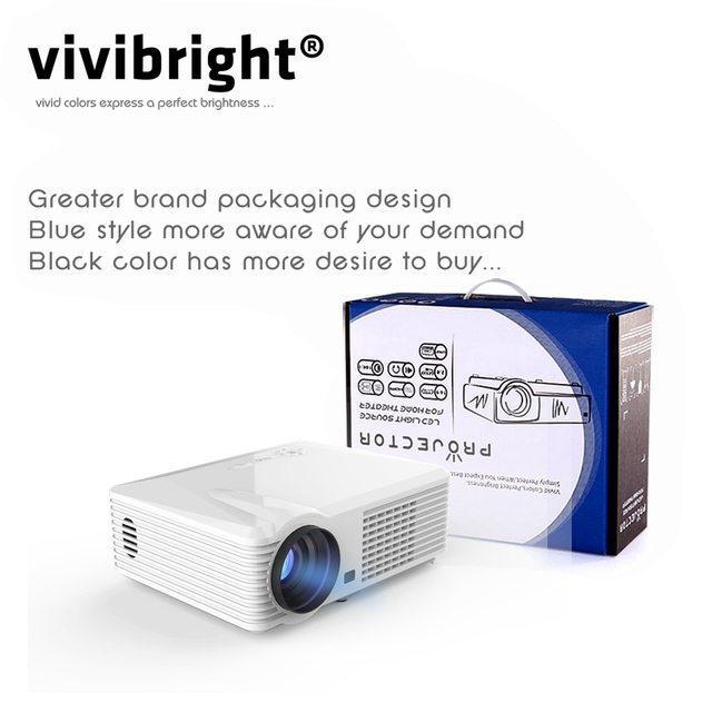 Vivibright home cinema android LED Projector WIFI+Bluetooth 2500 lumens
