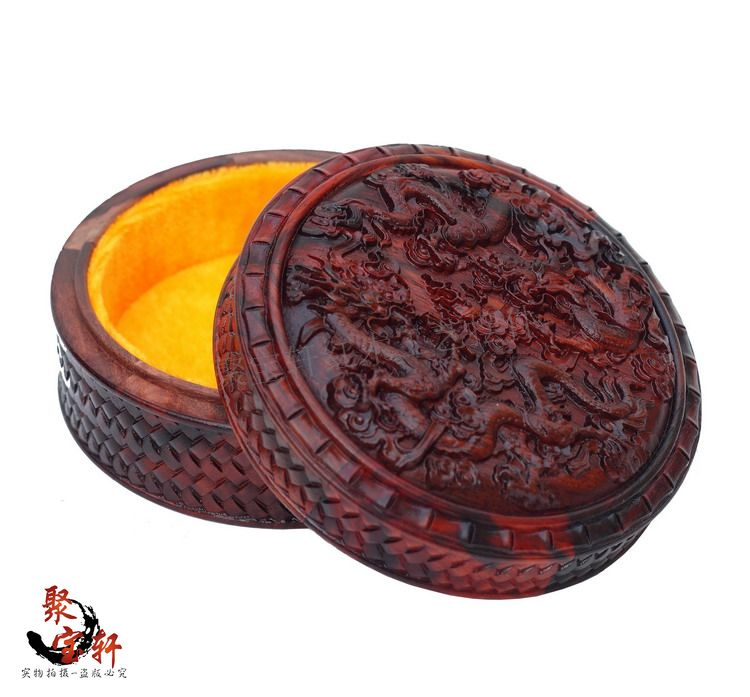 Red acid branch wood carving jewelry box Bangle br...