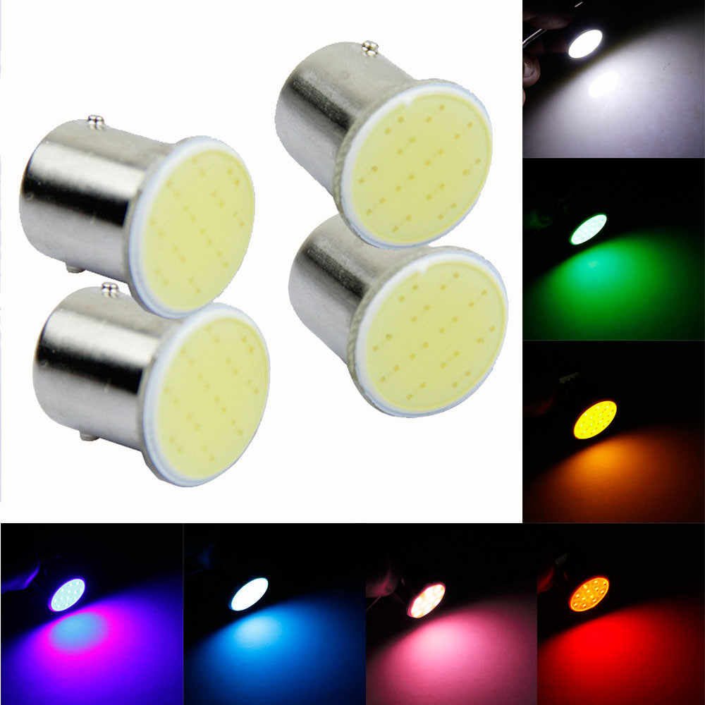 4x Super White cob p21w led 12SMD 1156 ba15s 12v bulb RV Trailer Truck car styling Light parking Auto led Car lamp @016