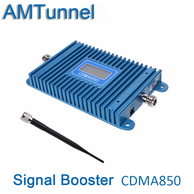 CDMA 850MHz cellular signal booster CDMA800MHz repeater cellular amplifier 850MHz 70dB gain LCD display + indoor antenna CDMA980