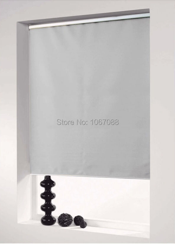 Custom Made 100 Polyester Blackout Roller Blinds in Grey Window Curtains for Living Room 1101 07