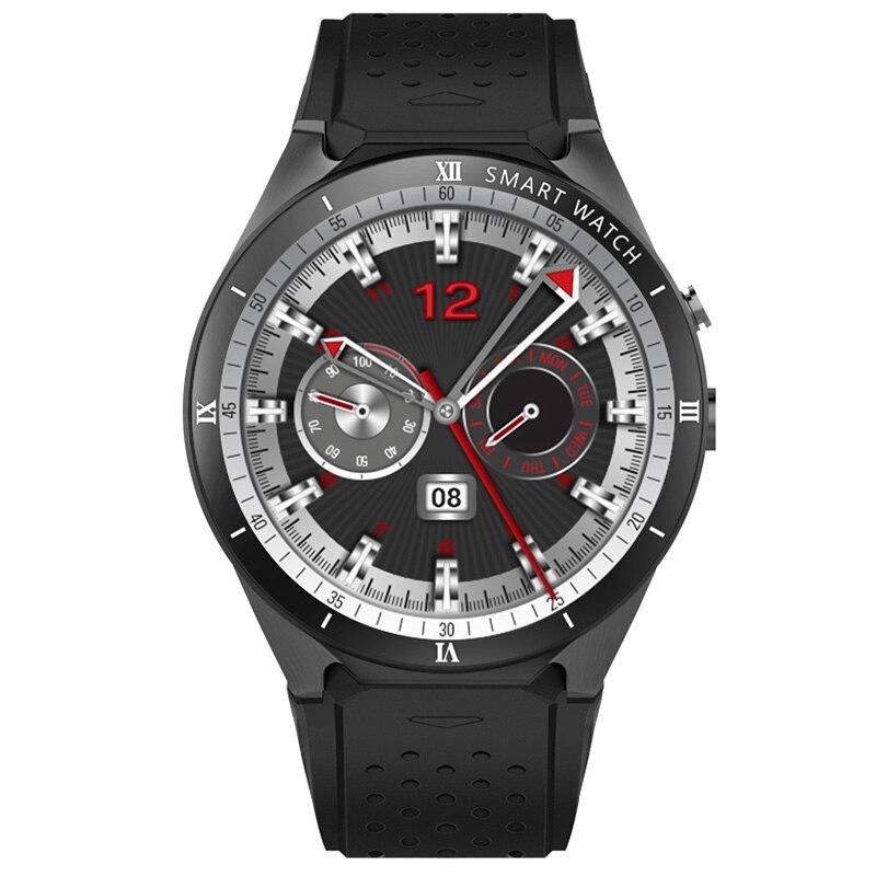 KingWear KW88 Pro 3g Smartwatch телефон Android 7,0 4 ядра 1. 3g Гц 1 + 16 GB Bluetooth 4,0 Смарт-часы телефон gps Носимых устройств