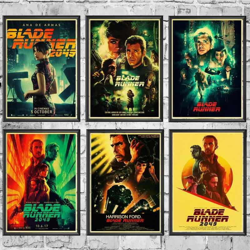 New Movie Blade Runner 2049 Retro Poster Prints High Quality  Wall Stickers  For Living Room Home Decoration painting