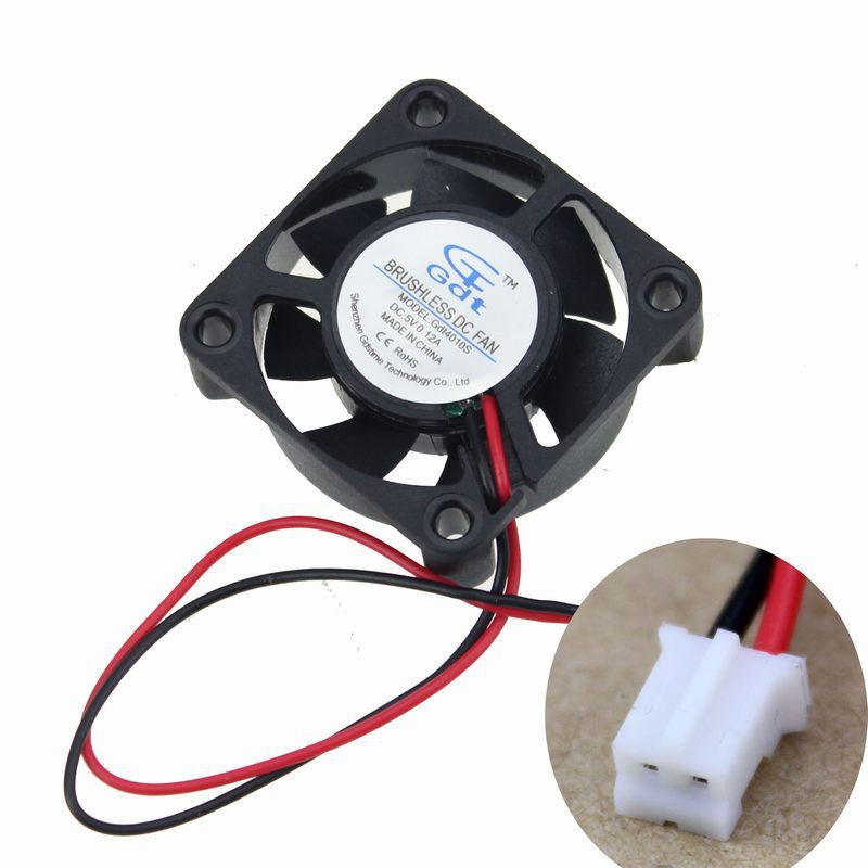 Wholesale 50pcs 35mm 35x35x10mm 5V 2Pin Brushless Cooling Fan Free Shipping