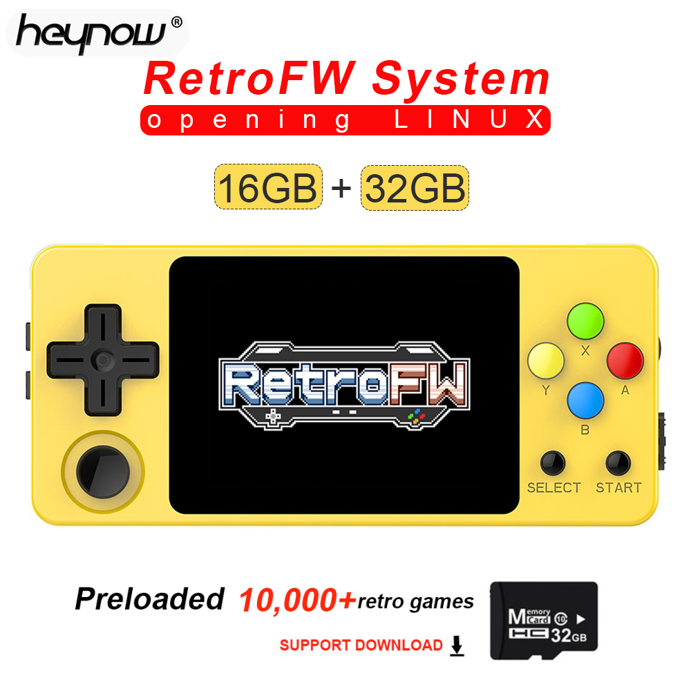 NEW LDK Game Console RetroFW LINUX System DIY 2 6inch 16GB Nostalgic Mini Children Retro Game