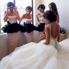 2016 Sweet Lace Appliques Bridesmaid Dresses Satin Mermaid Floor-Length De Casamento Robe Demoiselle D'honneur Bridesmaid Dress