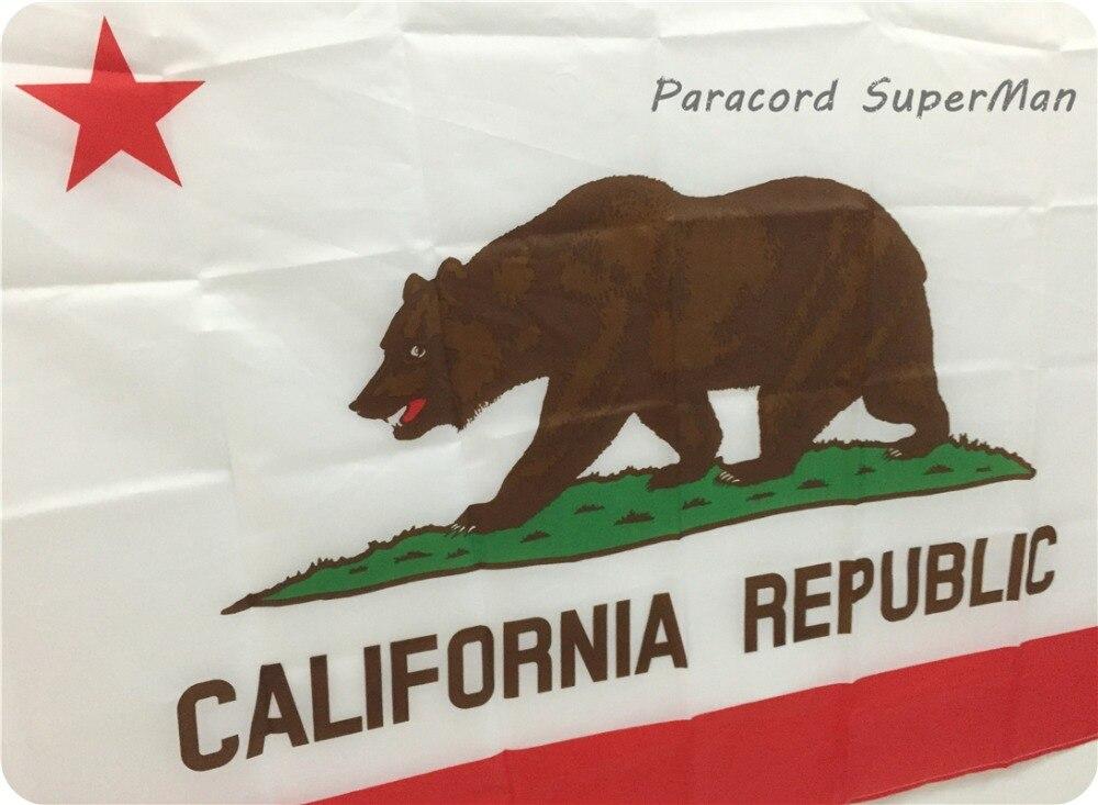 Ayı Bayrağı 3 * 5FT 90 * 150sm asılmış California Respublikası - Komanda idman növləri - Fotoqrafiya 3