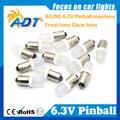 100 unidades sem cintilação Peças Da Máquina De Pinball 6.3 Volts LEVOU pinball luzes led Bulb #44 #47 ba9s geada 906 Wedge Base De anti fantasma
