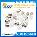 100 unidades sin parpadeo pinball Pinball Machine Parts 6.3 Voltios LED luces led Bombilla #44 #47 ba9s frost 906 Cuña de Base contra fantasma