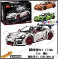 Ladrillos de construcción, bloques establece juguetes decool 3368 modelo de coche de regalo juguetes kids Boy ecudational juguete LEPIN Técnica 20001 911 GT3 RS racing