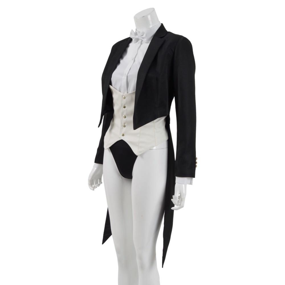 Zatanna Cosplay Costume Jacket Trench Tailcoat